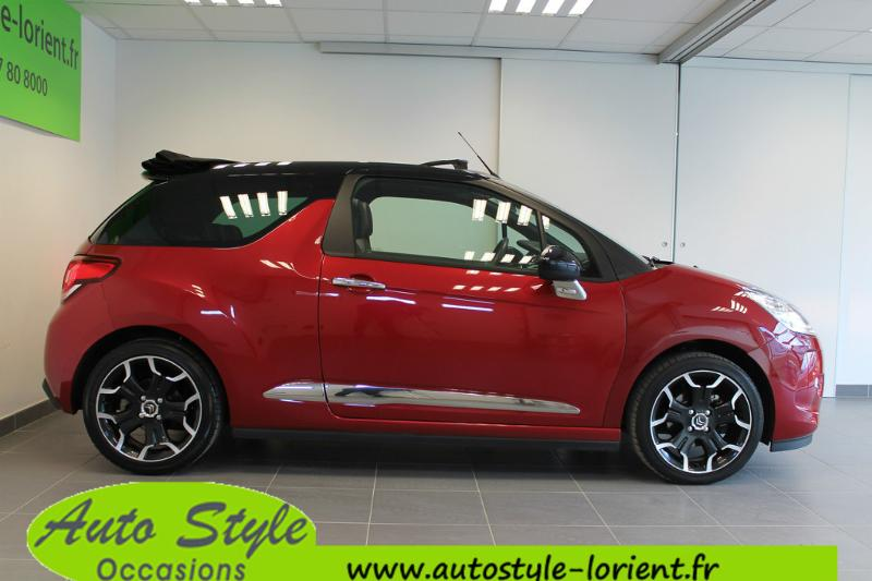 voiture d occasion citroen ds3 cabrio 1 6 e hdi90 airdream so chic cabriolet lanester 15990. Black Bedroom Furniture Sets. Home Design Ideas