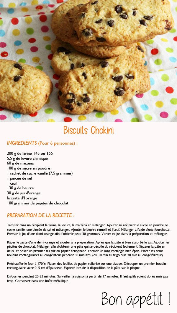 recette des biscuits chokini